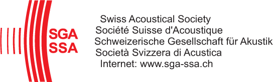 To the homepage: Swiss Acoustical Society: SGA-SSA